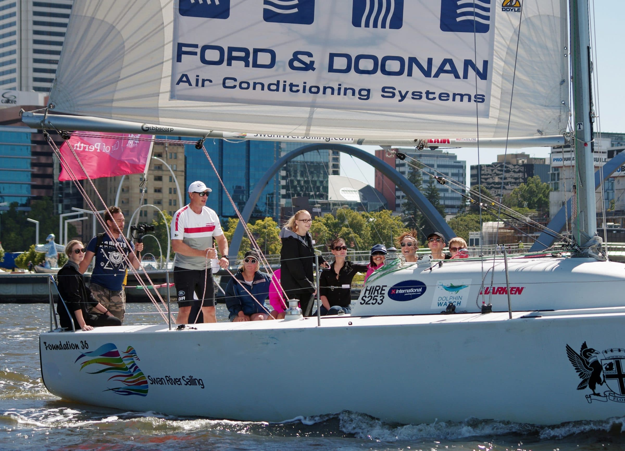 Kids and Adults discovering sailing at the Perth International Boat Show
