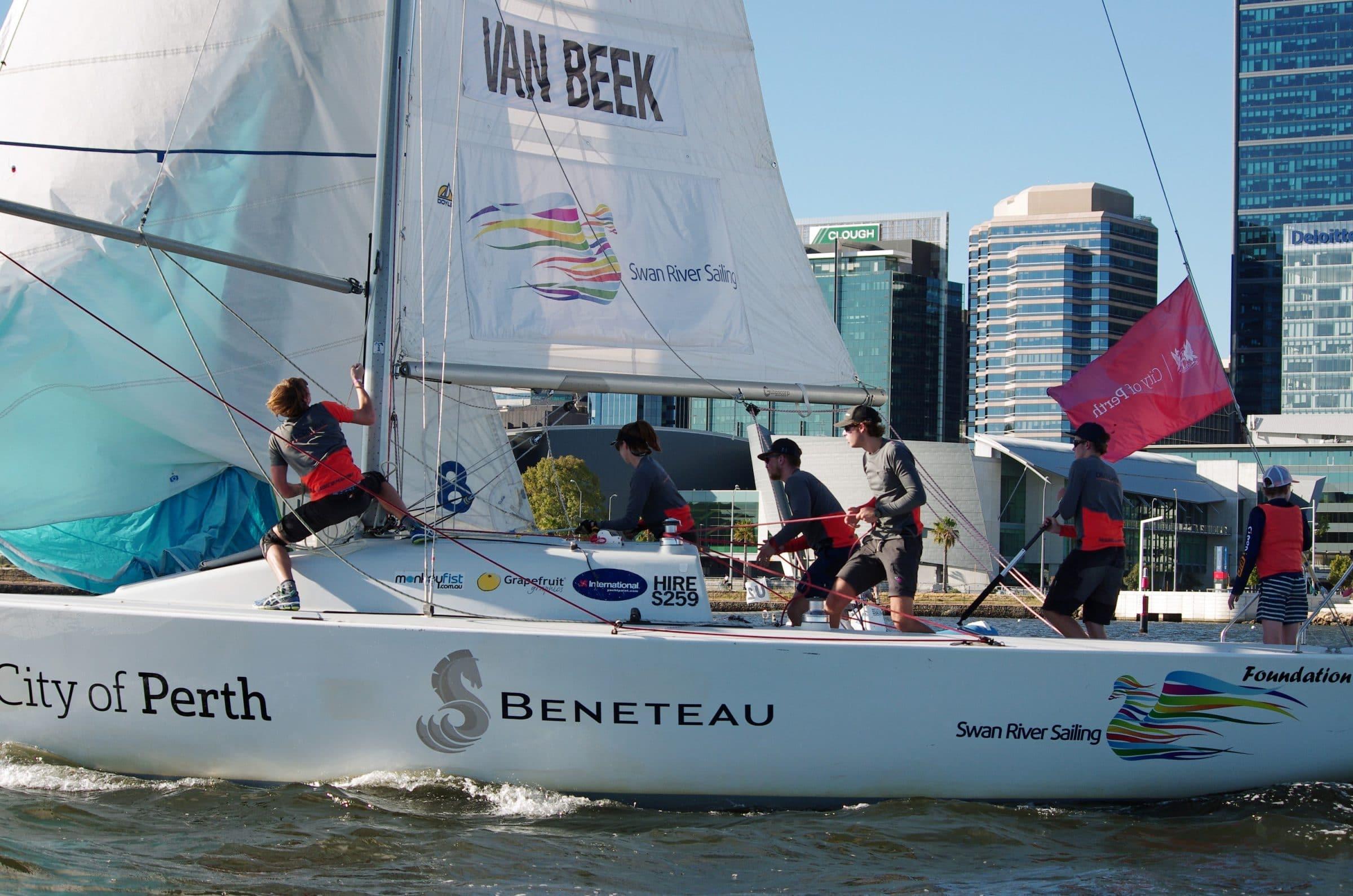 Jelmer Van Beek at the 2018 Warren Jones Regatta as part of the City of Perth Festival of Sail