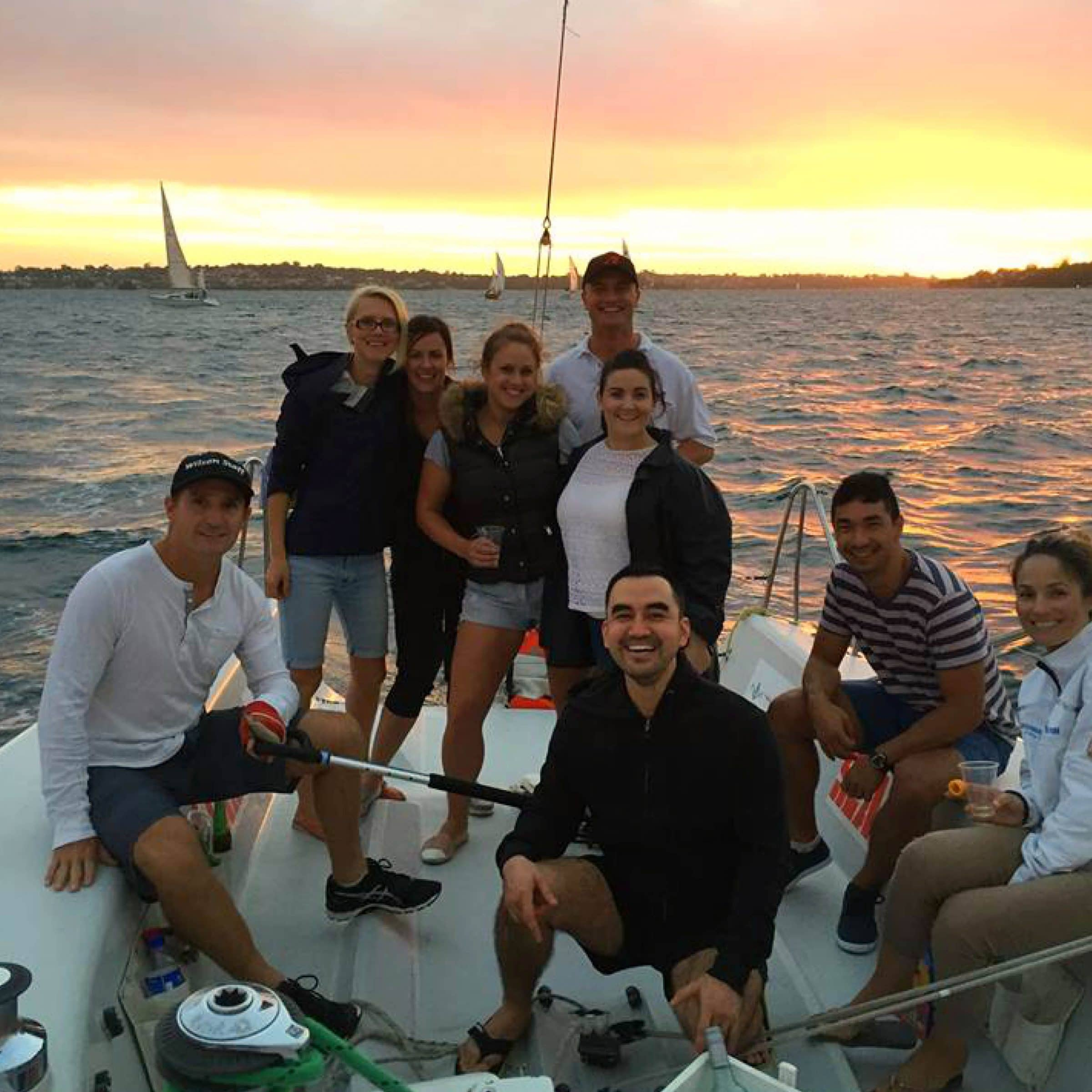 twilight sailing with swan river sailing in perth