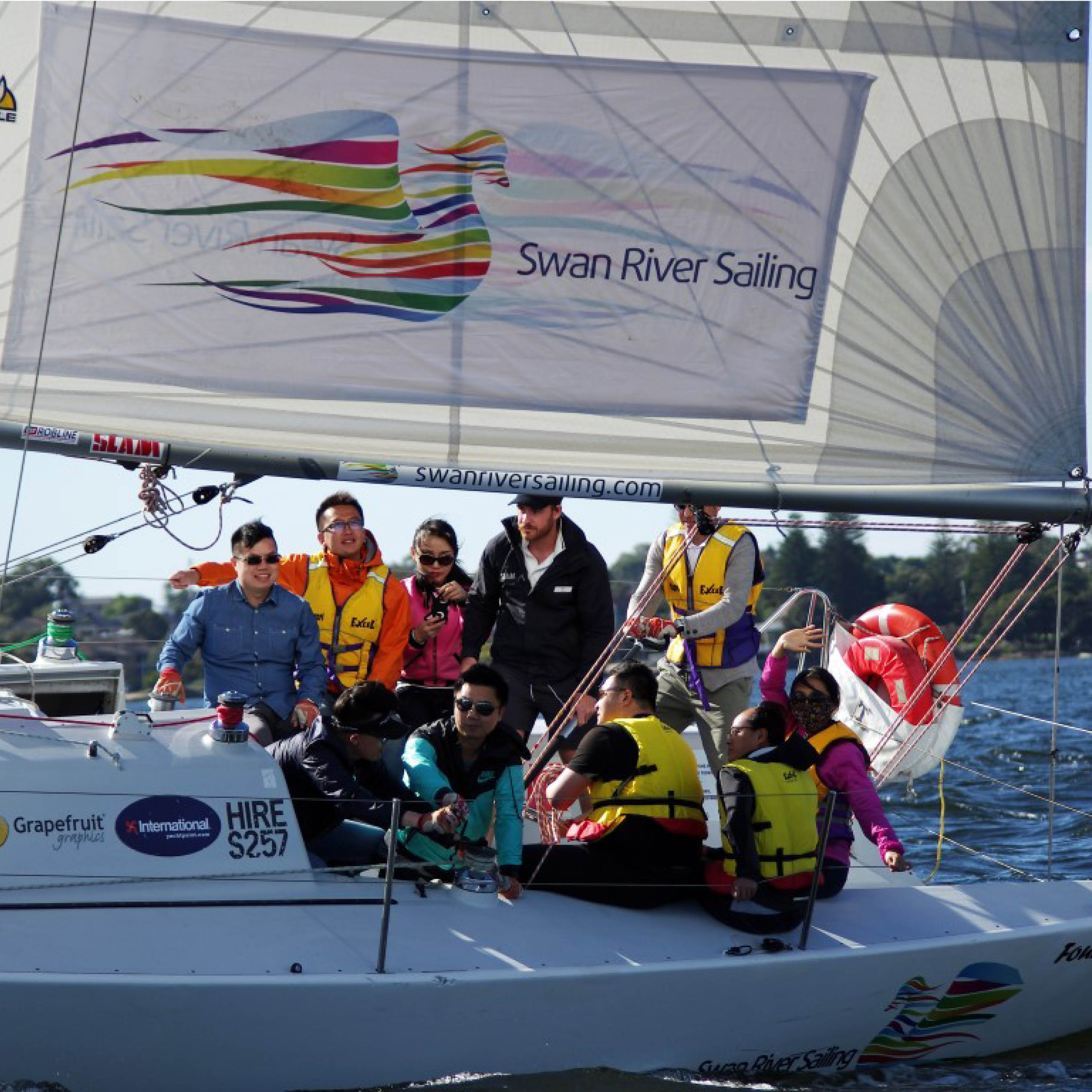 team building and corporate sailing charter in perth