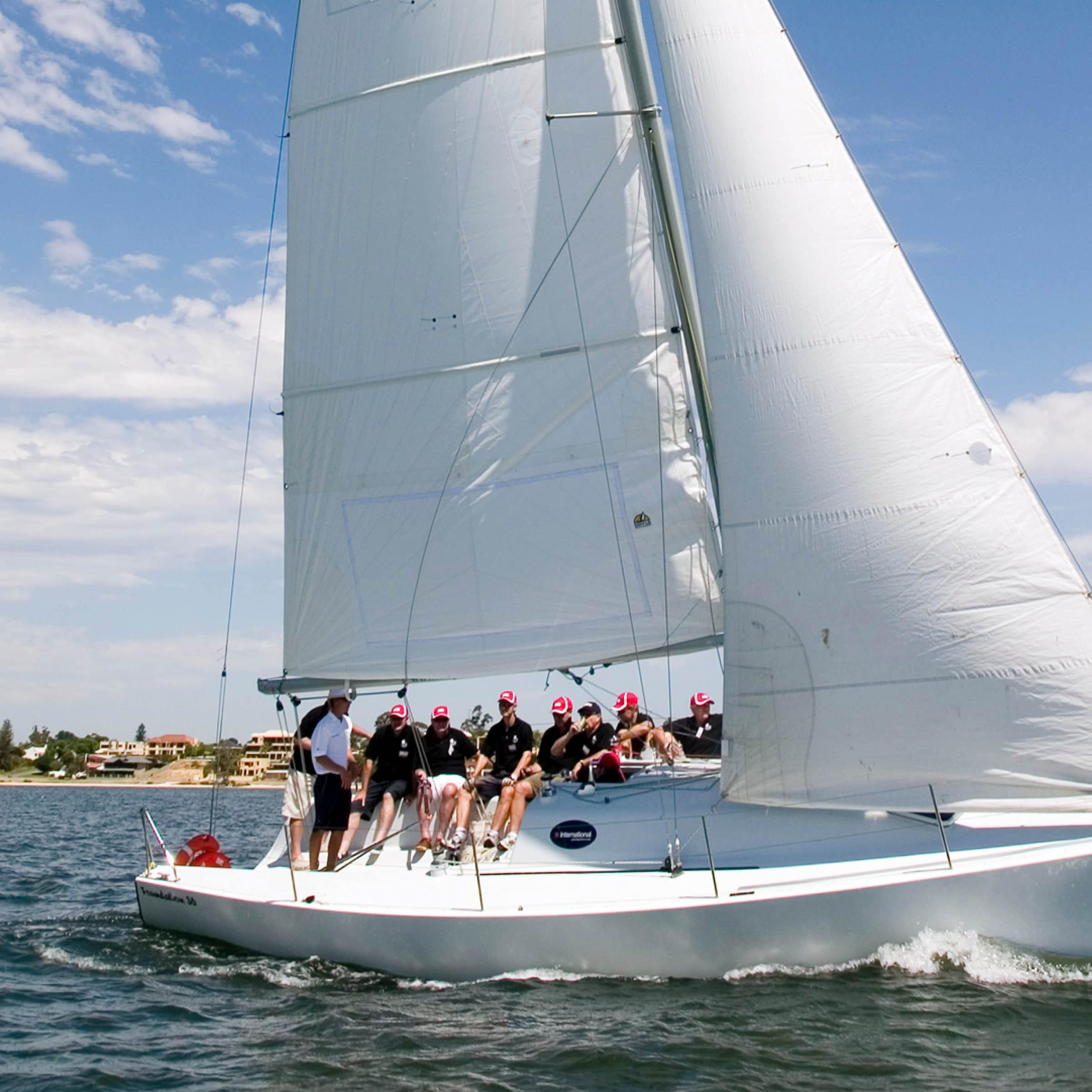 corporate sailing charter with swan river sailing in perth