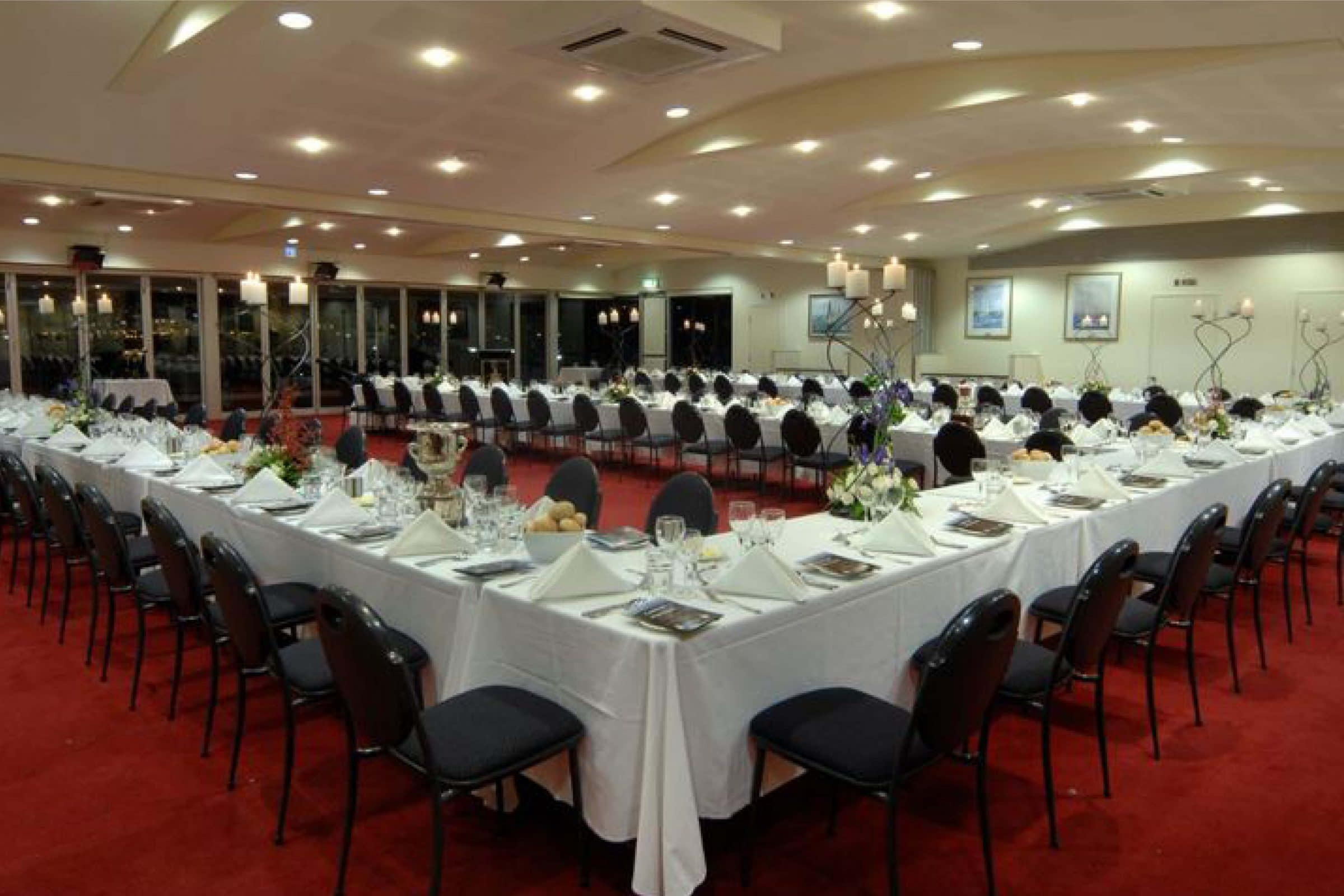 corporate function in the river room at royal perth yacht club