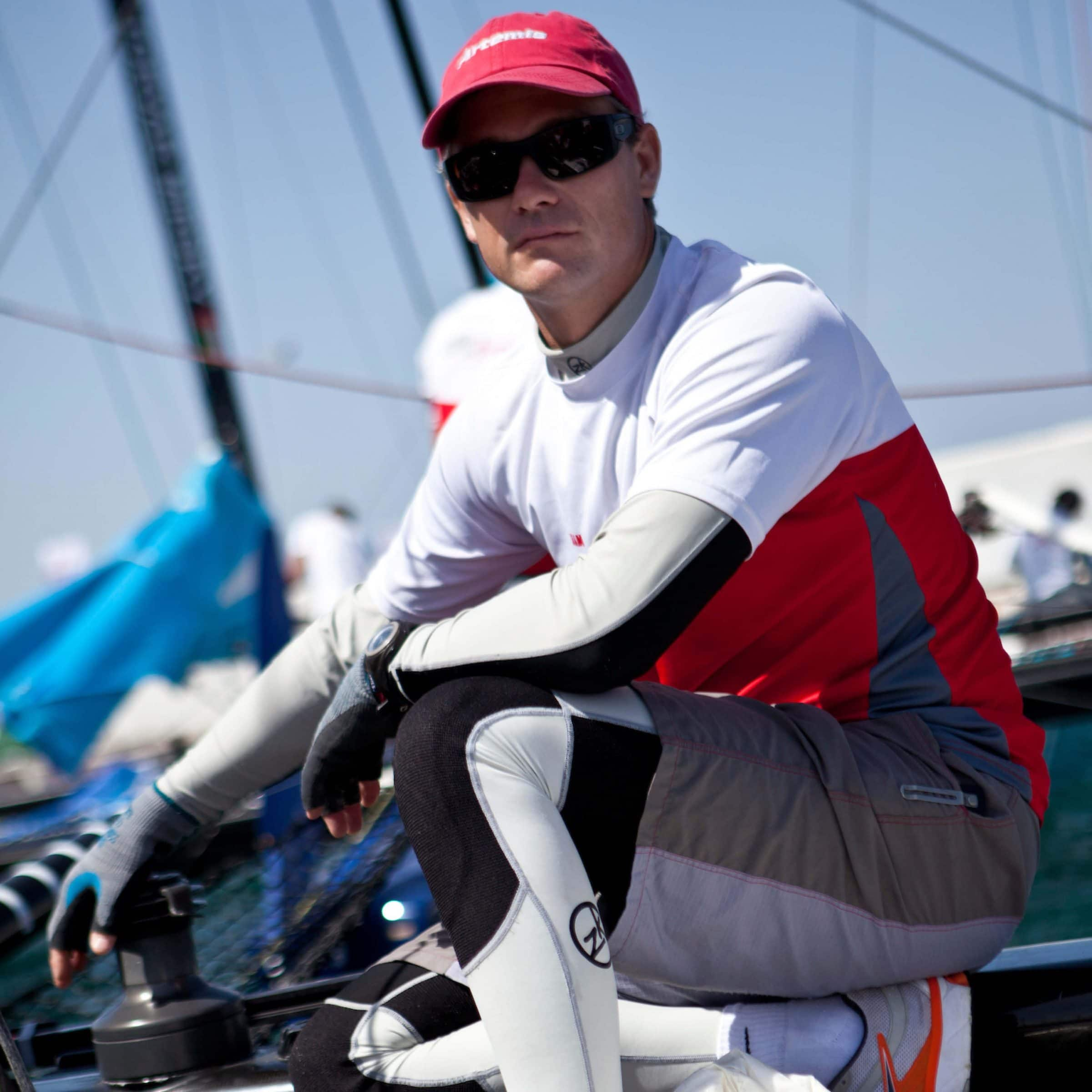 andy fethers americas cup sailor and exective officer of swan river sailing for team building programs