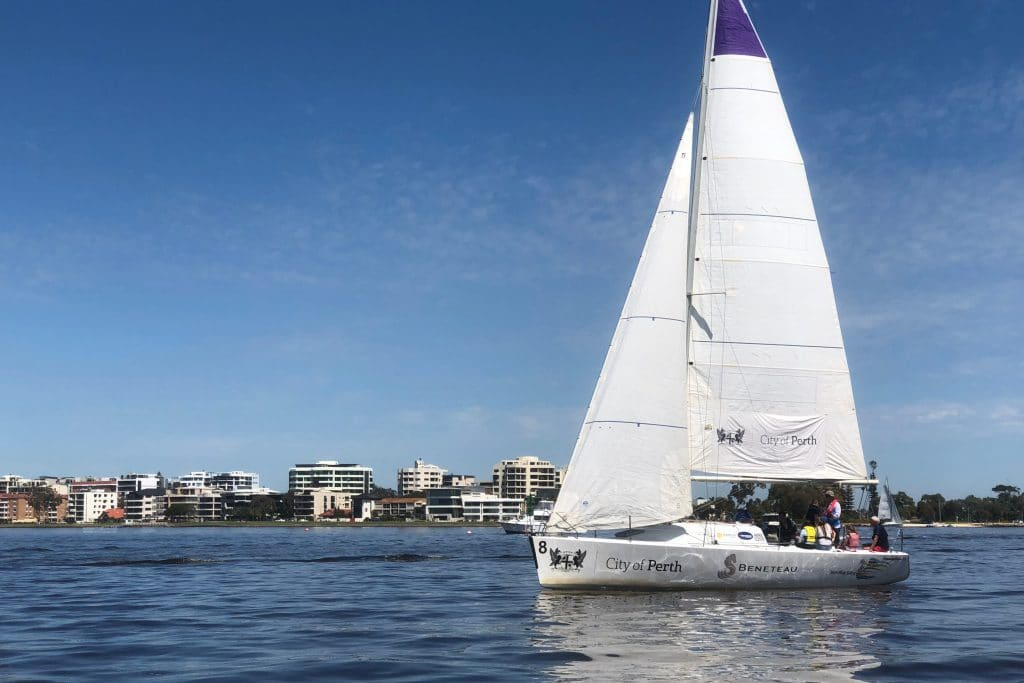 swan river sailing foundation 36 yachts at the 2018 perth international boat show