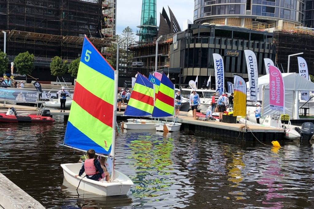 little tackers sailing at the 2018 perth international boat show