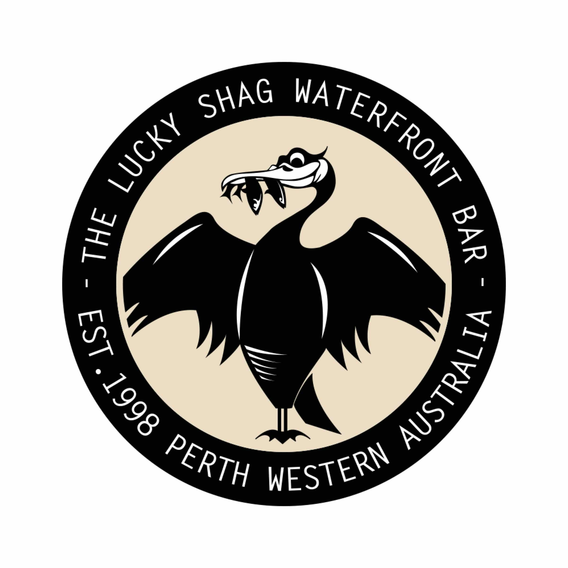 swan river sailing supporter lucky shag logo perth