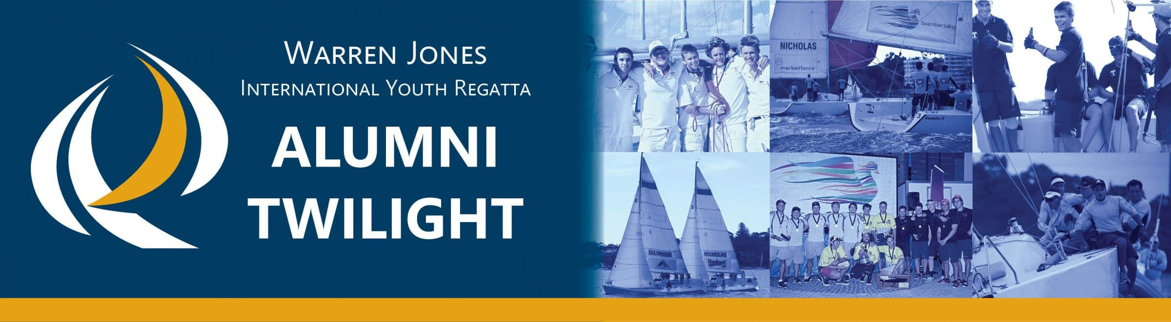 warren jones alumni twilight event for past competitors at the royal perth yacht club, hosted by swan river sailing