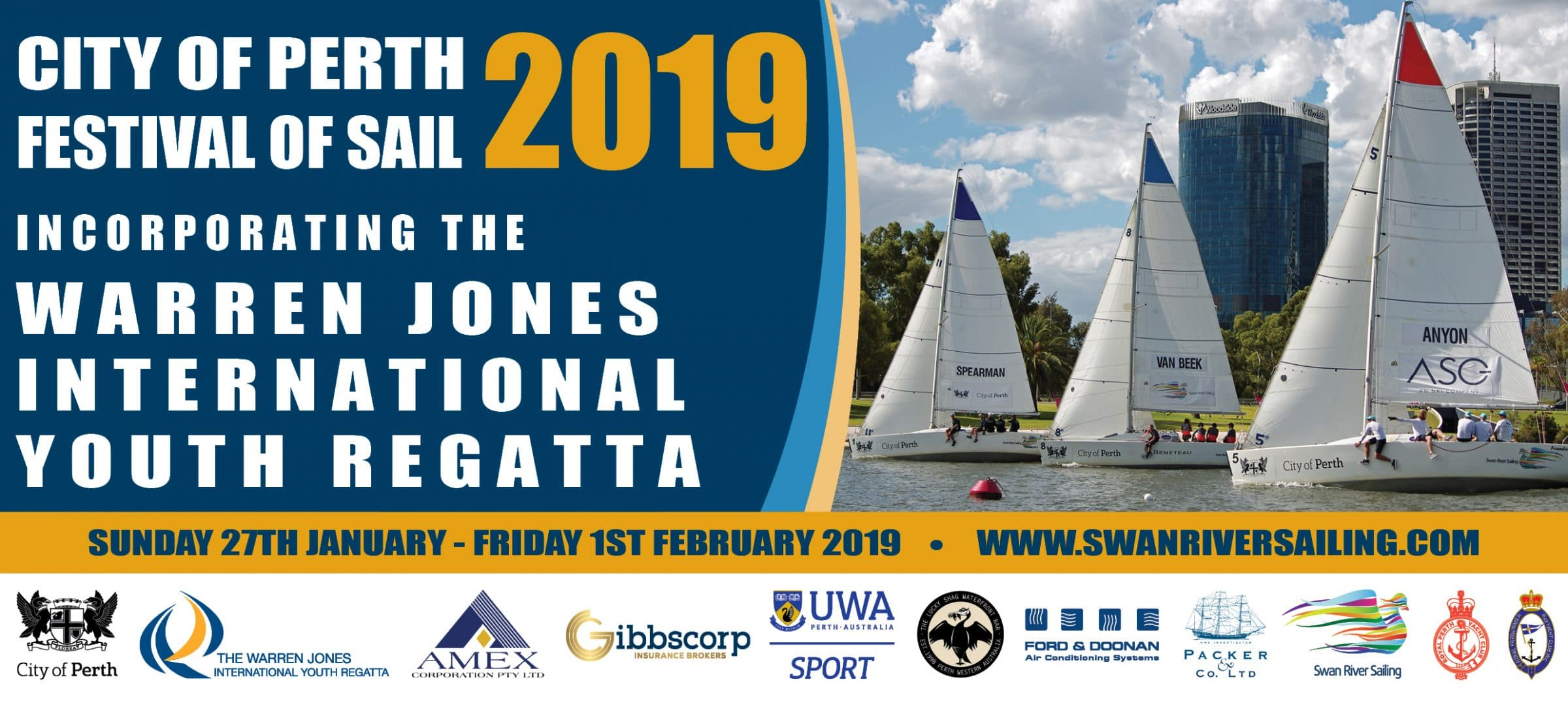 2019 City of Perth festival of sail incorporating the Warren Jones International Youth Regatta