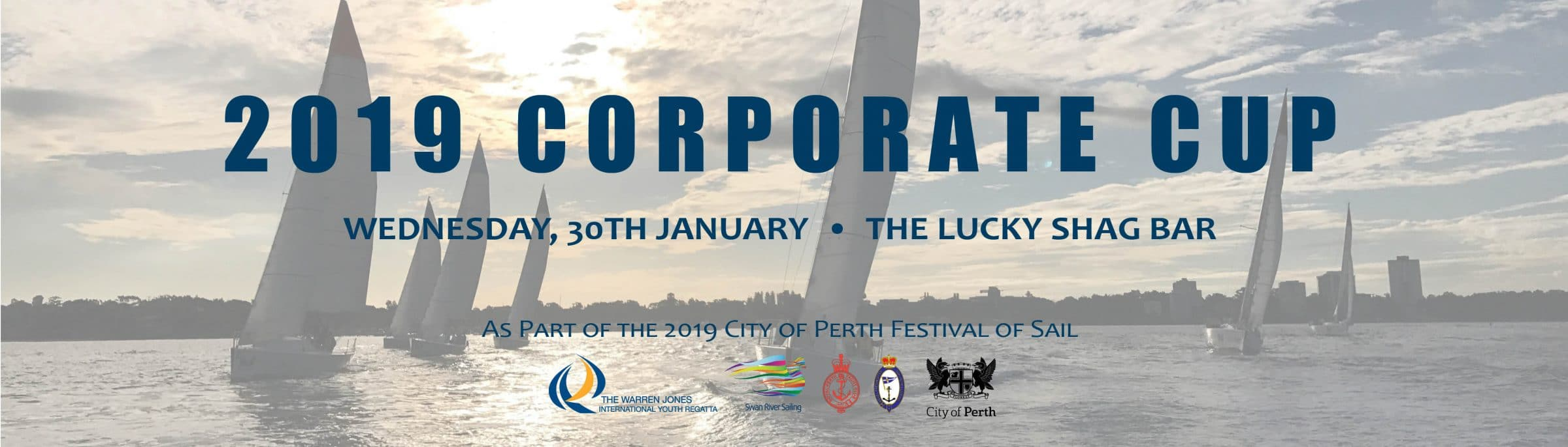 corporate cup networking sailing event in perth waters right near the CBD 2019