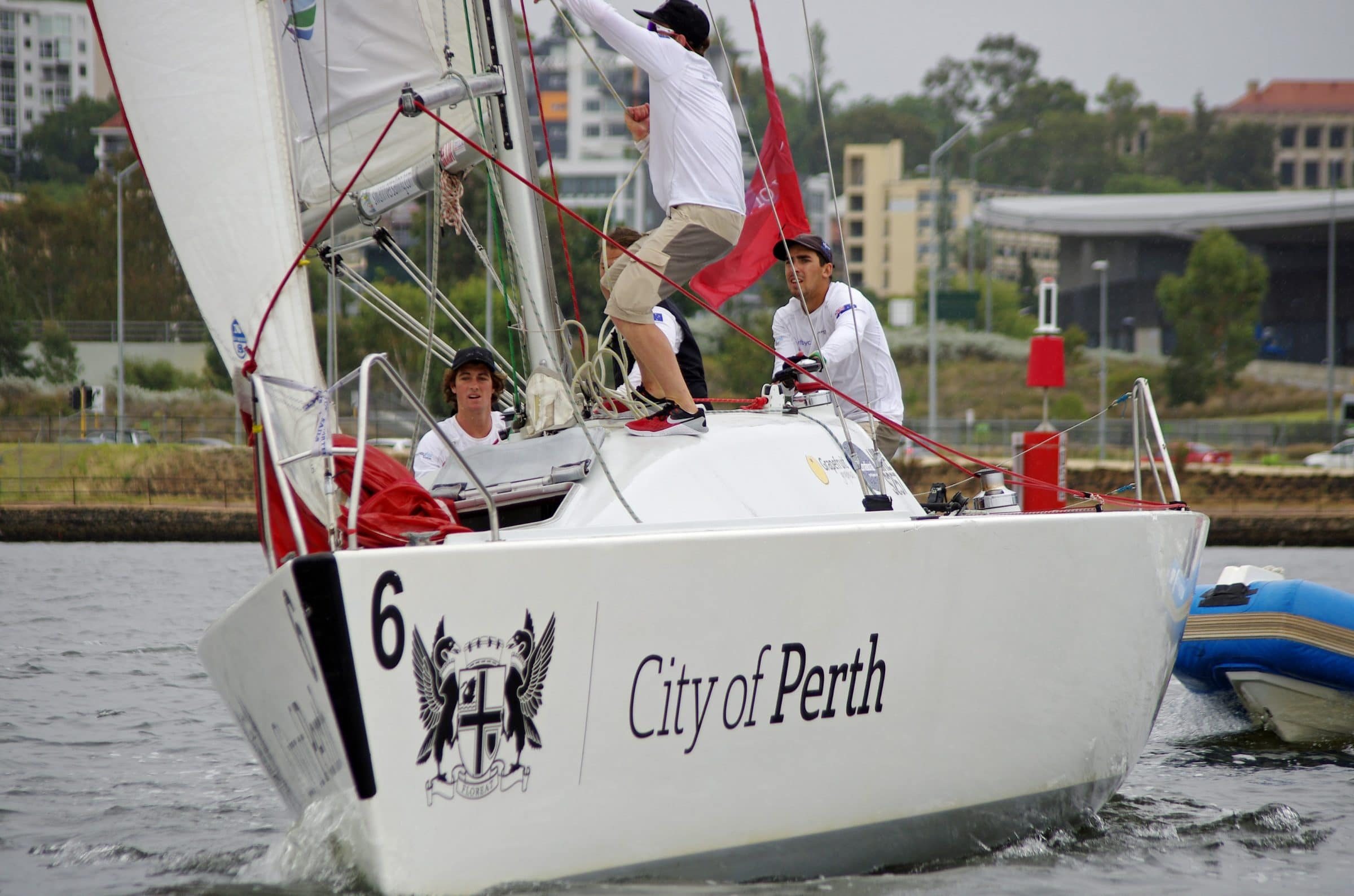 cam seagreen in the 2017 warren jones international youth regatta sailing with lachy gilmour