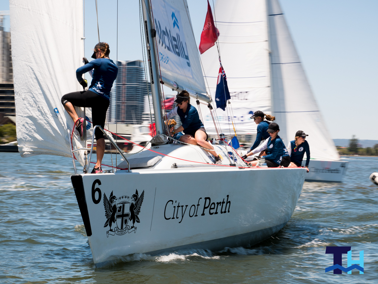 2019 City of Perth Festival of Sail Day 2 Warren Jones Match Racing Clare Costanzo Fusion Racing
