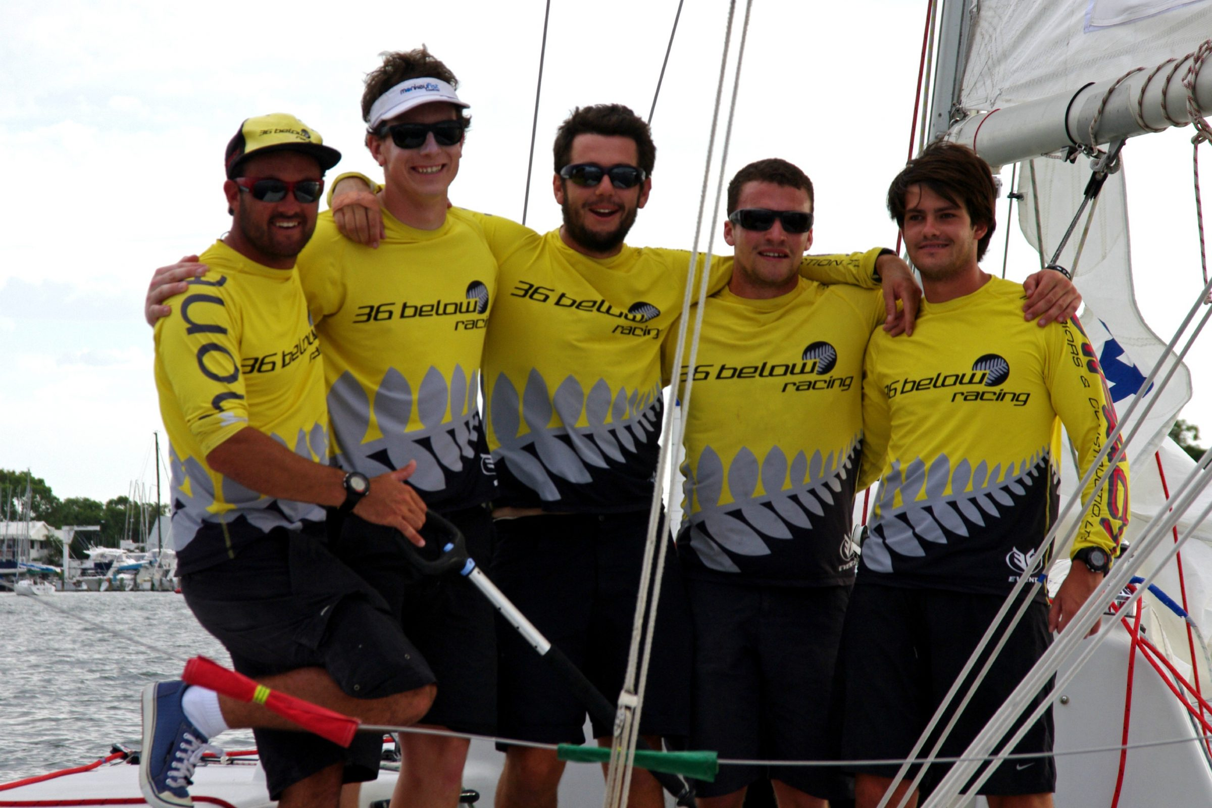 36 below racing, skippered by Chris Steele from the royal new zealand yacht squadron , winners of the 2015 warren jones international youth regatta, organised by swan river sailing, an iconic youth match racing regatta in perth, western australia